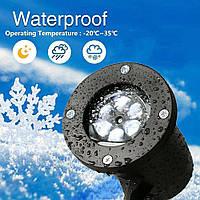 Проектор Star Shower Snow Flake(Снежинки белые) + ПОДАРОК D1031