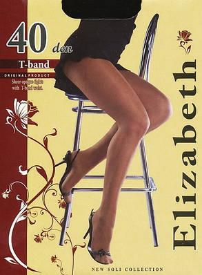 Колготки Elizabeth 40 den t-band Nero р.4 (00116) | 5 шт., фото 2