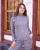 Вязаный спортивный костюм женский 46-50р, фото 1