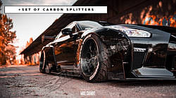 """Комплект """"широкий кузов"""" + карбоновые сплиттера NISSAN GTR MK4"""