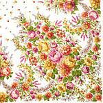 "Платок шерстяной с шелковой бахромой ""Малиновка"", 125х125 см. рис 1346-1, фото 2"