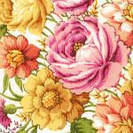 "Платок шерстяной с шелковой бахромой ""Малиновка"", 125х125 см. рис 1346-1, фото 3"