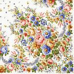 "Платок шерстяной с шелковой бахромой ""Малиновка"", 125х125 см. рис 1346-2, фото 2"
