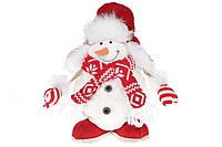Мягкая новогодняя игрушка Снеговик 30см BonaDi 822-291