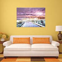 Видение города Сочельник бескаркасных холст картины гостиной спальня настенной живописи домашнего декора-1TopShop