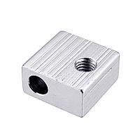 Anet® 20 * 20 * 10 мм Φ6 M6 Алюминиевый нагревательный блок для 3D-принтера Prusa i3 Hot End - 1TopShop