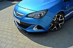 Накладка на передний бампер Opel Astra J OPC / VXR вар.2