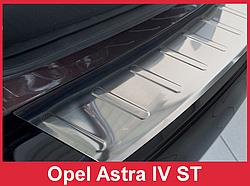 Накладка на бампер с загибом Opel Astra J Sports Tourer (kombi)