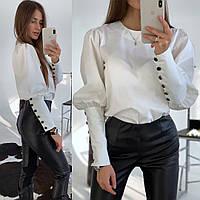 Блуза женская нежная стильная с объемными рукавами Bld398
