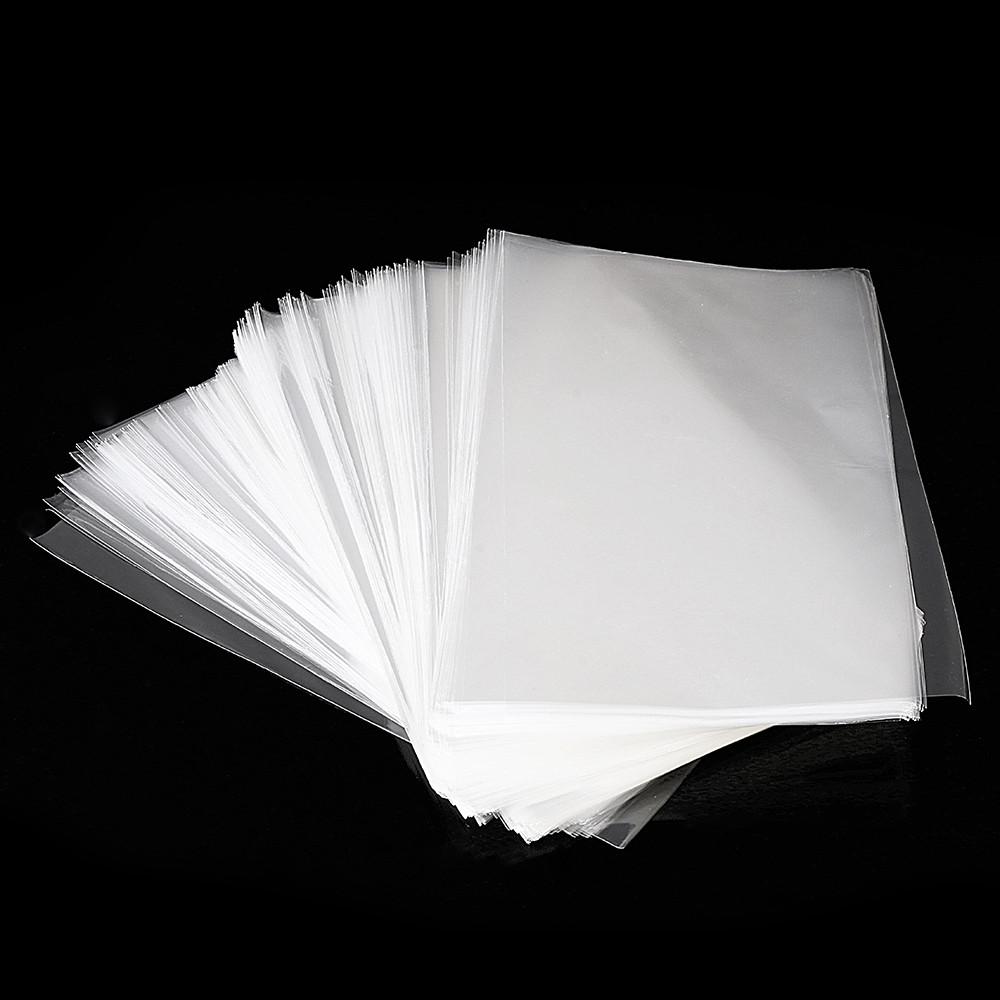 500Pcs OPP Прозрачная виолончель Сумки Целлофан Сумка Плоский карманный многоразовый пакет Сумка без клея - 1TopShop