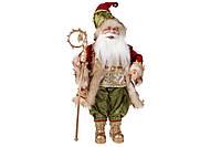 Новогодняя игрушка Санта 46см, цвет - красный с зеленым, BonaDi NY14-484