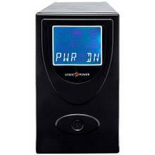 ИБП LogicPower UL650VA, Lin.int., AVR, 2 x євро, USB, LCD, метал