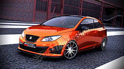 Дифузор переднього бампера Seat Ibiza IV Cupra (послерест.)