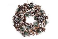 Новогодний декоративный венок 42см из натуральных материалов, BonaDi NY27-738