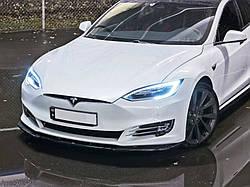 Дифузор переднього бампера Tesla Model S Facelift верс.1