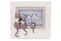 Рамка для фотографии Три кота 21см, цвет - белый с серым BonaDi 447-327