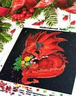 СЛМ-028 Рождественский Драго. ТМ Миледи. Схема-миниатюра для вышивки бисером, фото 2