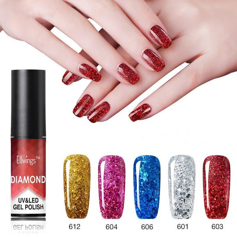 Бриллиант Ногти Гель польские металлические блестки Гель польские нужны UV/LED Лампа Ногти Art 20 цвет для выбора - 1TopShop