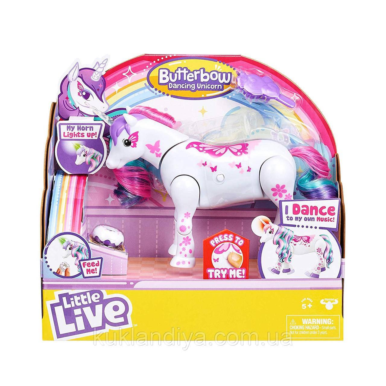 Little Live Pets Интерактивный танцующий единорог Butterbow