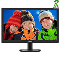 "Philips 23.6"" 243V5QHSBA/01 MVA Black"