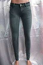 Джинсы цветные зеленые 9030-4