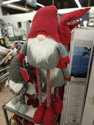 Новогодняя большая игрушка Санта (регулируемые ноги до 130 см), фото 2