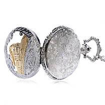 DEFFRUN Модный поезд Резные Открываемые Полые Стимпанк Карманные Часы Очаровательное Ожерелье Кварцевые Часы - 1TopShop, фото 3