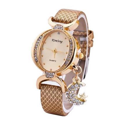 Мода Луна Кулон Повседневная Двусторонняя Дрель Овальная Женское Наручные часы - 1TopShop, фото 2