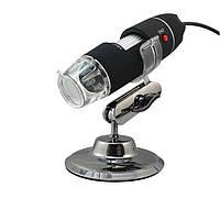 Цифровой микроскоп USB Magnifier Kronos SuperZoom 50-500X с LED Черный