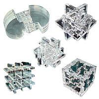 Набор из 5 акриловых 3D-головоломок Крутиголовка (krut_0542)
