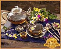Картины по номерам 40×50 см. Babylon Premium Травяной чай, фото 1