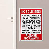 25x35см Пластиковый предупреждающий знак Не вымогать смешной знак Уйти входная дверь Новинка подарок - 1TopShop