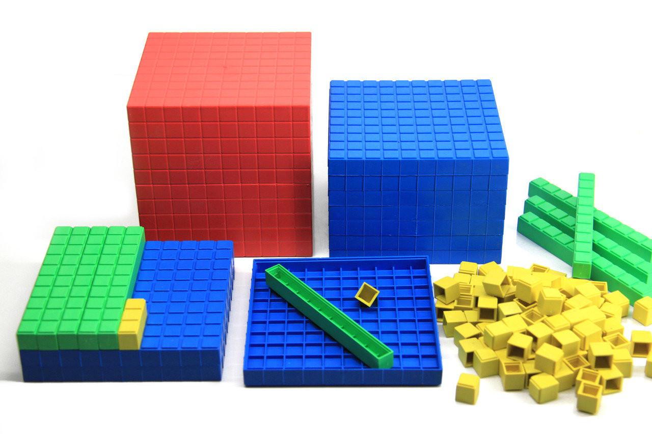 """Математичний куб, Набір """"Одиниці об'єму"""", пластик 121 частини"""