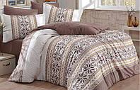 Комплект постельного белья Hobby 4709 Евро Поплин 200х220 см Бежевый (psg_SA-4709)