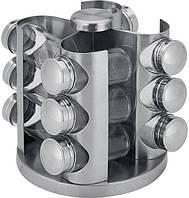 Набор для специй Renberg 12 емкостей на металлической подставке