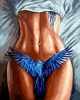 Картины по номерам 40×50 см. Синяя птица, фото 1