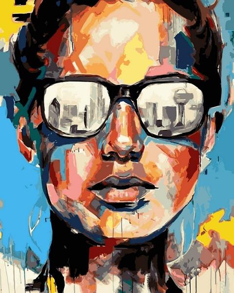 Картины по номерам 40×50 см. Нью-Йорк Художник Джулия Паппас