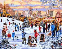 Картины по номерам 40×50 см. Гайд-парк Зимняя страна чудес Художник Ричард Макнейл, фото 1