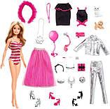 НОВИНКА! Адвент календар Лялька Барбі і 24 предмета, одяг для ляльки Барбі, Barbie Advent Calendar, фото 2