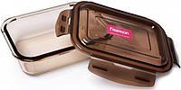 Контейнер для продуктов Fisman Luxor 1520 мл стеклянный 22х16х7 см Прозрачный / Коричневый