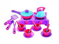 Детская плита с посудой Kinderway 04-413, 20 предметов