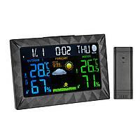 TS-Y01 Беспроводной цифровой На открытом воздухе Внутренний температурный и влажный измеритель LCD Большой экран Дисплей Термометр Датчик вл -