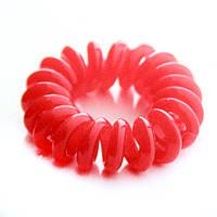 Резинка для волос STARLOOK спираль силиконовая 5 см коралловая