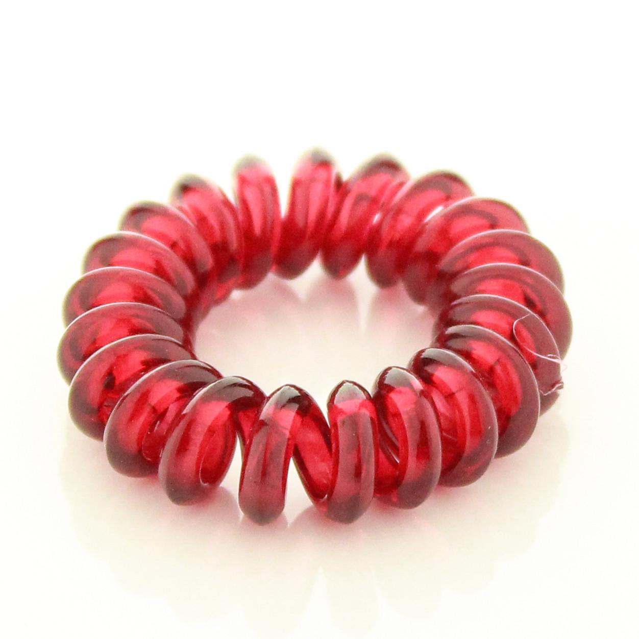 Резинка для волос STARLOOK спираль силиконовая 3.5 см красная