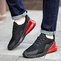 Мужские кроссовки Байота 270 (черные красная вставка)
