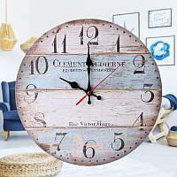 12 '' Ретро Круглая Деревянная Стена Часы Домашний Офис Декор Фермы Планка Часыs-1TopShop