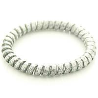Резинка для волос STARLOOK спираль силиконовая c блестками 5 см серебро