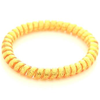 Резинка для волос STARLOOK спираль силиконовая c блестками 5 см оранжевая