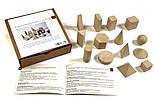 Набір моделей геометричних тіл, 14 шт, дерево, фото 2