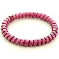 Резинка для волос STARLOOK спираль силиконовая c блестками 5 см вишневая